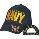 Eagle Emblems CP00201 Cap-Usn Logo (Brass Buckle)