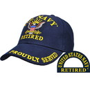 Eagle Emblems CP00205 Cap-Usn, Retired (Brass Buckle)