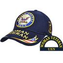 Eagle Emblems CP00206 Cap-Woman Veteran, Usn (Brass Buckle)