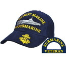 Eagle Emblems CP00210 Cap-Usn, Submarine/Best (Brass Buckle)