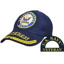 Eagle Emblems CP00213 Cap-Usn, Veteran (Brass Buckle)