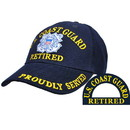 Eagle Emblems CP00277 Cap-Uscg, Retired (Brass Buckle)