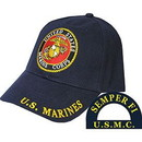 Eagle Emblems CP00301 Cap-Usmc Logo, Rnd (Brass Buckle)