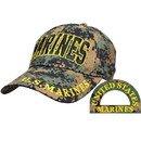 Eagle Emblems CP00312 Cap-Usmc, Marines, Camo. (Brass Buckle)