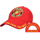 Eagle Emblems CP00316 Cap-Usmc Logo, The Few, Red (Brass Buckle)