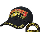 Eagle Emblems CP00318 Cap-Usmc, First To Fight (Brass Buckle)