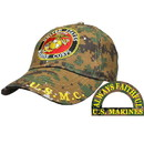 Eagle Emblems CP00324 Cap-Usmc Logo, Camo. (Brass Buckle)