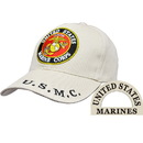 Eagle Emblems CP00328 Cap-Usmc Logo, Khaki (Brass Buckle)