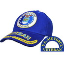Eagle Emblems CP00404 Cap-Usaf Emblem Veteran (Brass Buckle)