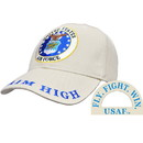 Eagle Emblems CP00414 Cap-Usaf Emblem Khaki (Brass Buckle)