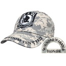 Eagle Emblems CP00532 Cap-Wounded Warrior, Camo (Brass Buckle)