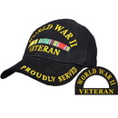 Eagle Emblems CP00595 Cap-Wwii Vet, Svc.Ribbon (Brass Buckle)