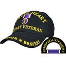 Eagle Emblems CP00601 Cap-Purple Heart, Cmbt.Vet (Brass Buckle)
