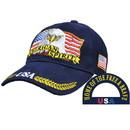 Eagle Emblems CP00700 Cap-Usa, American Spirit (Brass Buckle)