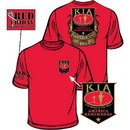 Eagle Emblems CS1065 Tee-Kia, Red Friday, Honor