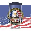 Eagle Emblems CU1025 Cup-American Warriors, 16 oz