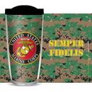 Eagle Emblems CU1201 Cup-Us Marines, Camo, 16 oz