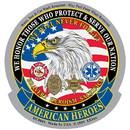 Eagle Emblems DC0001 Sticker-American Heroes (3-1/2
