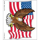 Eagle Emblems DC0004 Sticker-Usa, 5Pc Sidekicks (3