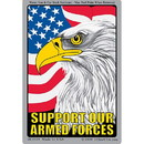 Eagle Emblems DC0039 Sticker-Support Our Troop Armed Forces (3