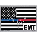 Eagle Emblems DC0057 Sticker-Emt, Blue/Red Line, (3