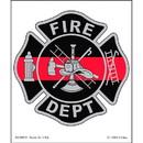 Eagle Emblems DC0059 Sticker-Fire, Red Line, (3