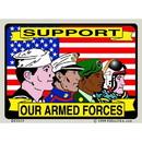 Eagle Emblems DC0115 Sticker-Usa, Armed Forces (3
