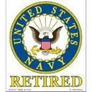 Eagle Emblems DC0167 Sticker-Usn Logo, Retired (3-1/4