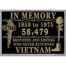 Eagle Emblems DC0173 Sticker-Vietnam, In Memory (3