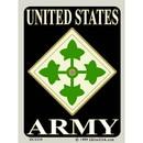 Eagle Emblems DC0204 Sticker-Army, 004Th Div. (3