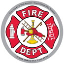 Eagle Emblems DC0298 Sticker-Fire Dept. (3-1/2