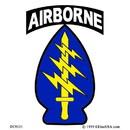Eagle Emblems DC8121 Sticker-Special Forces Ab (Clear Vinyl) (3-1/4