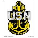 Eagle Emblems DC8141 Sticker-Usn Logo, Anchor (Clear Vinyl) (3-1/4