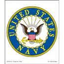 Eagle Emblems DC8152 Sticker-Usn Logo (3-1/4