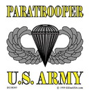 Eagle Emblems DC8307 Sticker-Army, Para, Basic (Clear Vinyl) (3-1/4