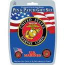 Eagle Emblems DIS0001 Gift Set-U.S.Marines (Pin & Patch) .