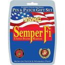Eagle Emblems DIS0011 Gift Set-U.S.Marines Semper-Fi (Pin & Patch) .