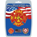 Eagle Emblems DIS0016 Gift Set-Fire Department (Pin & Patch) .