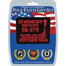 Eagle Emblems DIS0029 Gift Set-Viet.In Memory (Pin & Patch) .