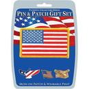 Eagle Emblems DIS0121 Gift Set-Usa Patriotic (Pin & Patch) .