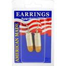 Eagle Emblems ER9647 Earrings-Bullet, 45Cal (Nickel)