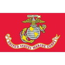 Eagle Emblems F1305 Flag-Usmc   Poly-Cotton (3Ftx5Ft)   Made In Usa .