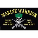 Eagle Emblems F1310 Flag-Mess W/Best Warrior .