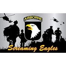 Eagle Emblems F1315 Flag-Army, 101St A/B Div. (3Ftx5Ft) .