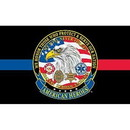 Eagle Emblems F1401 Flag-American Heroes (3Ftx5Ft) Thin Rw&B Line .