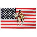 Eagle Emblems F1479 Flag-Usa, Native Am.Horse (3Ftx5Ft) .