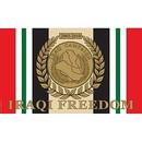 Eagle Emblems F1656 Flag-Iraq.Freed.Svc.Ribb. (3Ftx5Ft) .