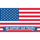 Eagle Emblems F1664 Flag-Support Our Troops (3Ftx5Ft)    Usa Flag .