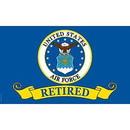 Eagle Emblems F1675 Flag-Usaf, Retired (3Ftx5Ft) .