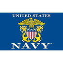 Eagle Emblems F1677 Flag-Usn Logo Ii (3Ftx5Ft) .